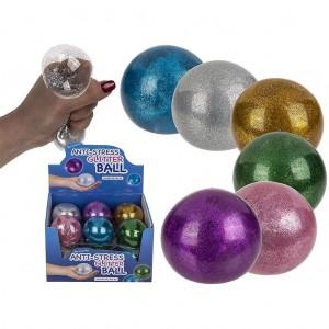 Anti-stress glitter bal 7 cm