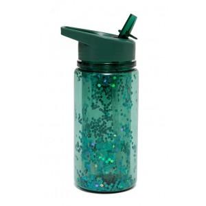 Drinkfles glitter salie