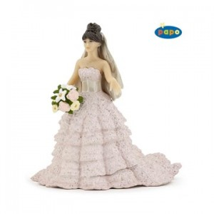 Pink lace bride