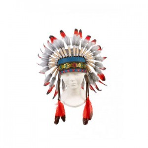 Ituha Chief Indian headdress, adjustable (1 pc)