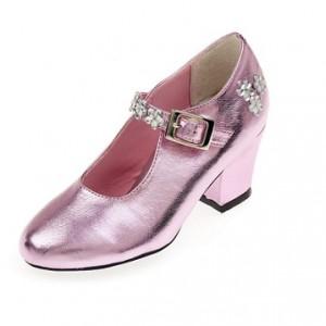 schoen roze metallic...