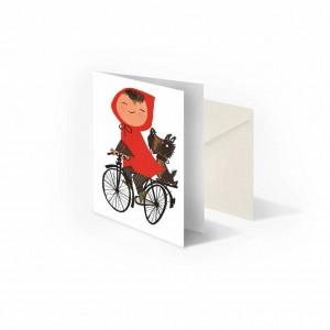 Meisje op fiets, Fiep...