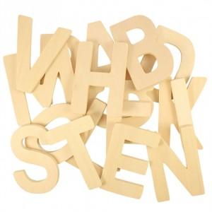Houten letters ABC alfabet...