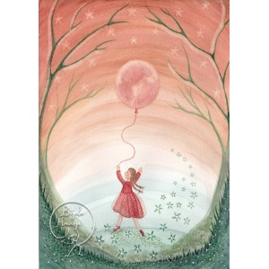 Girl with moon balloon...
