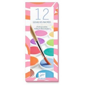 Waterverf parelmoer 12 kleuren