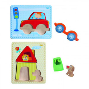 Houten puzzels Huis & auto