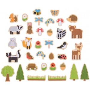 houten magneetjes dieren