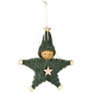 Kerst hanger hout met vilt