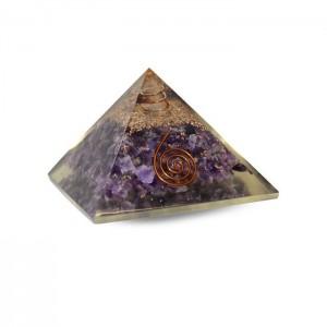 Orgonite Piramide Amethyst...