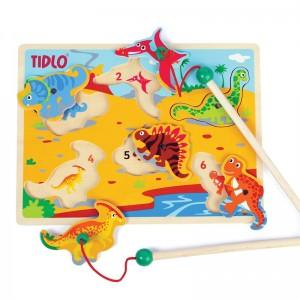 Magneetspel en puzzel - dino's