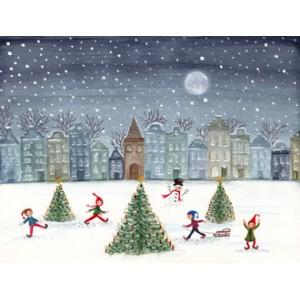 Kaart Christmas Skating...