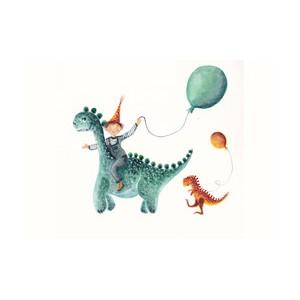Kaart Dino (10,5 x 15 cm)