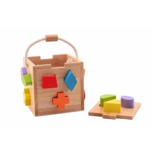 Houten vormenstoof/puzzelkist