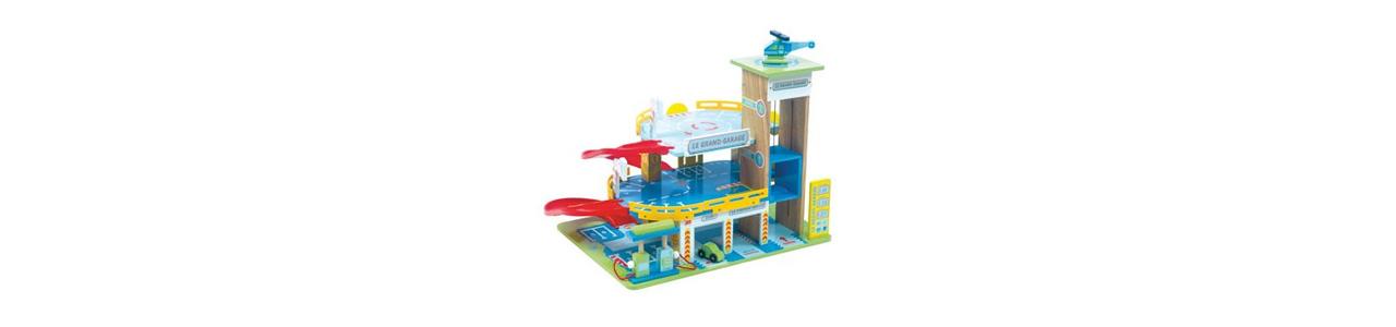 Speelgoed garages, hout en duurzaam kunststof vind je bij Kleine Reus!